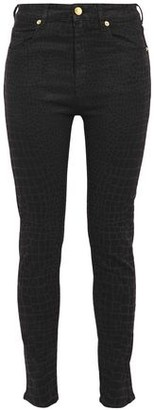 Love Moschino Printed High-rise Skinny Jeans