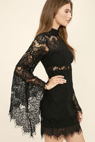 MinkPink Mink Pink Drama Queen Black Lace Dress