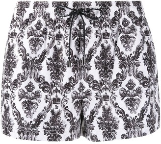 Dolce & Gabbana Paisley Print Swim Shorts