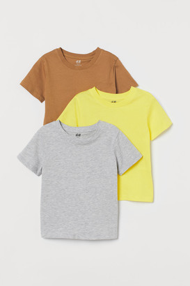 H&M 3-pack T-shirts - Beige