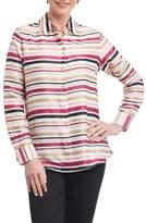 Foxcroft Addison Stripe Print Sateen Shirt