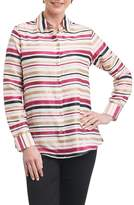 Foxcroft Women's Addison Stripe Print Sateen Shirt
