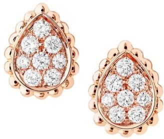 Boucheron Serpent Boheme 18K Rose Gold & Diamond Stud Earrings