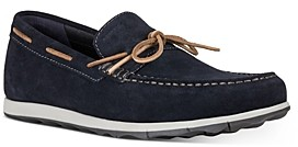 Geox Men's Calarossa Moc Toe Suede Boat Shoes