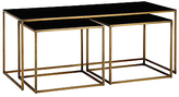 Terence Conran Content by Coffee Black Enamel Table and 2 Side Tables
