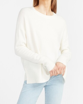 Express Crew Neck Slit Side Sweater