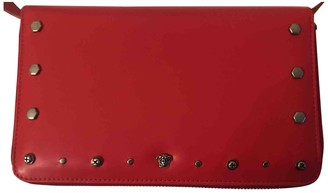 Versace Red Leather Clutch bags