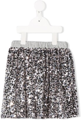 Douuod Kids Sequin Embellished Skirt