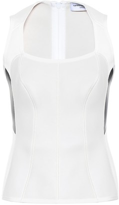 Marine Serre Scoop-neck scuba top