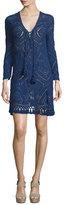 Calypso St. Barth Perfa Long-Sleeve Tunic Dress