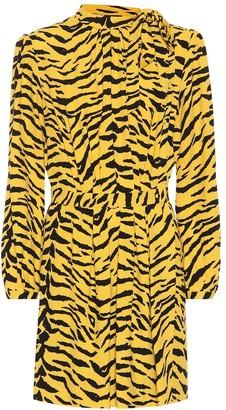 Saint Laurent Tiger crepe minidress