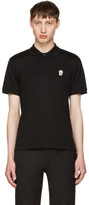 Alexander McQueen Black Classic Bullion Skull Patch Polo