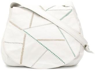 Emilio Pucci Pre Owned 1990s Stitching Details Shoulder Bag
