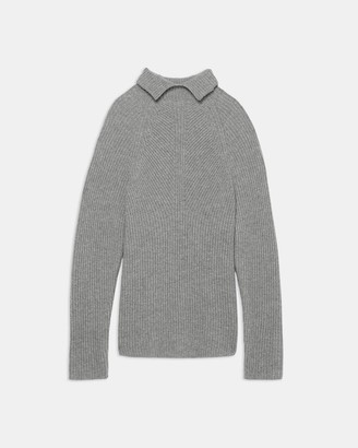 Theory Moving Rib Turtleneck Sweater in Cashmere