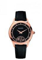 Balmain Women's Leather Band Rose Gold Plated Case Quartz Watch B3639.32.66