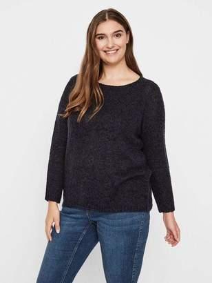 Junarose Billie Long Sleeve Knit Sweater in Navy Blue Size XL-5