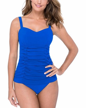 Gottex Women's Pleated Ruching D-Cup Tankini Top Swimsuit