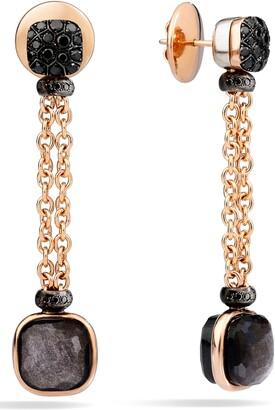 Pomellato Nudo Obsidian & Black Diamond Drop Earrings
