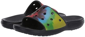 Crocs Classic Tie-Dye Graphic Slide (Multi) Slide Shoes