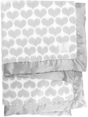 Little Giraffe Luxe(TM) Heart Army Faux Fur Baby Blanket