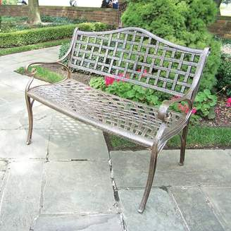 Astoria Grand Thelma Settee Bench Astoria Grand Color: Antique Bronze