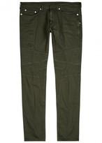 Neil Barrett Army Green Skinny Biker Jeans