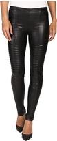 Plush Fleece-Lined Full Liquid Moto Leggings Women's Casual Pants