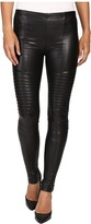 Plush Fleece-Lined Full Liquid Moto Leggings