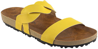 R&K Rk Collection RK Collection Women's Sandals YELLOW - Yellow Braided Reid Sandal - Women