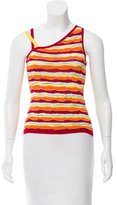 M Missoni Asymmetric Knit Top
