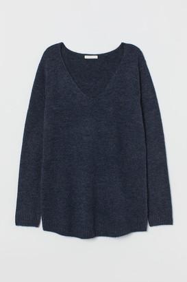 H&M MAMA V-neck Sweater - Blue