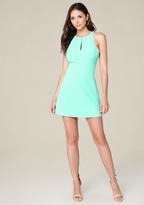 Bebe Cutout Back A-Line Dress