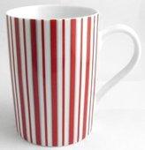 Konitz Caunitz) Basic Stripes Dark Red mug 111 003 0739 (japan import)