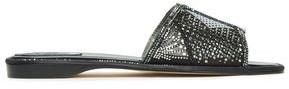 Rene Caovilla Rene' Caovilla Laser-cut Crystal-embellished Suede Slides