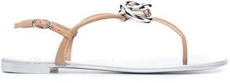 Giuseppe Zanotti Linked-Ring Flat Sandals