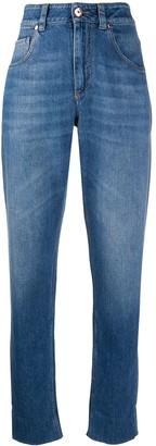 Brunello Cucinelli High-Waisted Boyfriend Fit Jeans