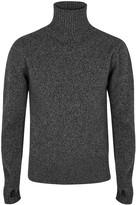 Oliver Spencer Charcoal Roll-neck Wool Jumper