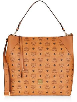 MCM Large Klara Visetos Hobo Bag
