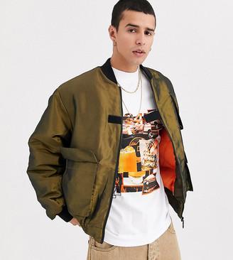 Collusion ma1 bomber jacket in khaki
