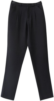 A.P.C. Anthracite Viscose Trousers