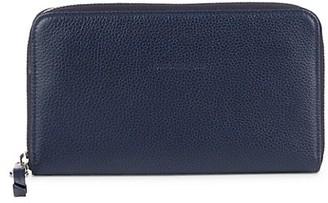 Longchamp Logo Leather Zip-Around Wallet