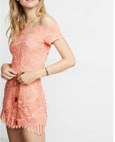 Express Off The Shoulder Lace Romper