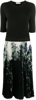 Givenchy graphic print midi dress