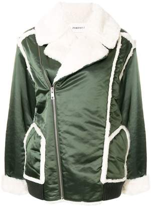Sherpa Lined Satin Coat