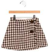 Il Gufo Girls' Wool-Blend Tweed Skirt