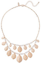 New York & Co. Goldtone Double-Row Teardrop Necklace