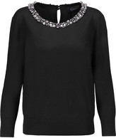 Magaschoni Embellished silk and cashmere-blend sweater