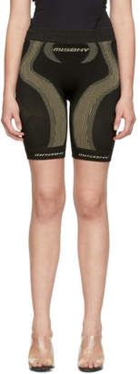 Misbhv Black and Taupe Aero Active Shorts