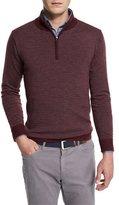 Peter Millar Striped Wool Quarter-Zip Sweater