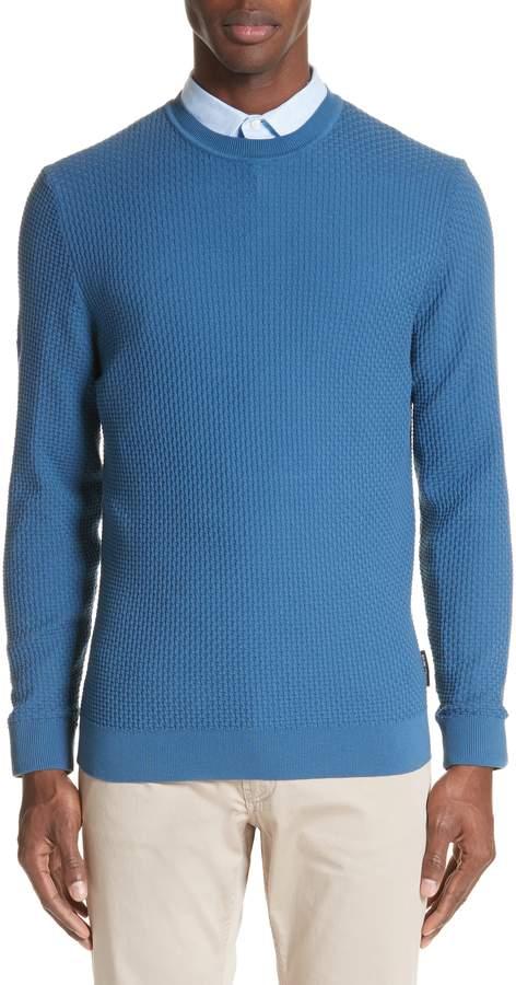 Emporio Armani Slim Fit Textured Crew Sweater
